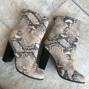 A+ snake skin booties